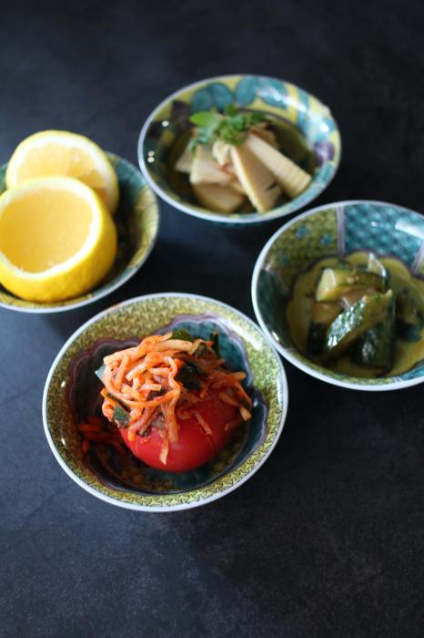 竹の子の土佐煮、トマトキムチ、きゅうりの味噌炒め、日向夏ゼリー_c0162653_13433298.jpg