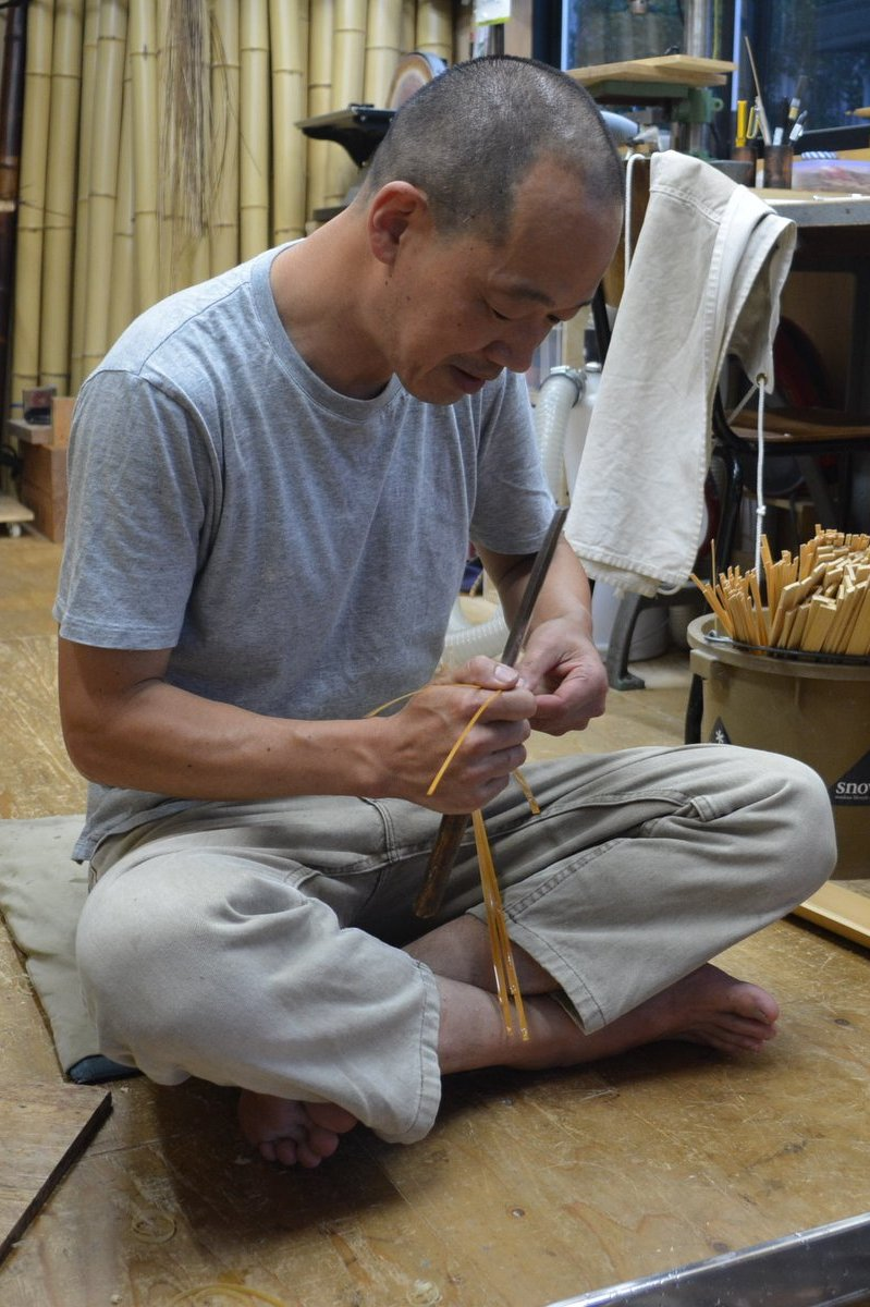 「吉田佳道 竹の花籠展」制作の場_d0087761_2582439.jpg