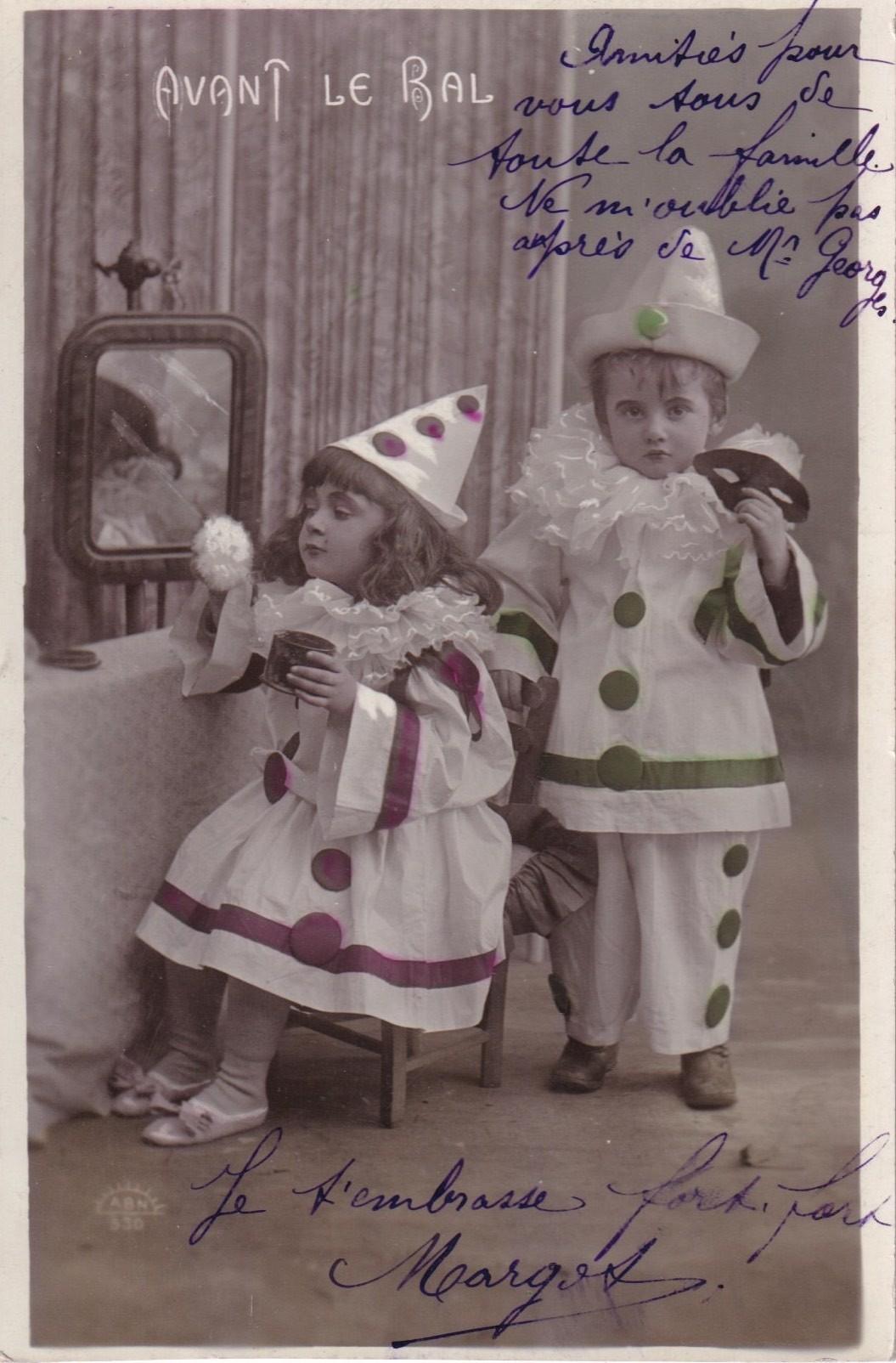 パリの蚤の市から*可愛いピエロの子供たち_c0094013_02404534.jpg
