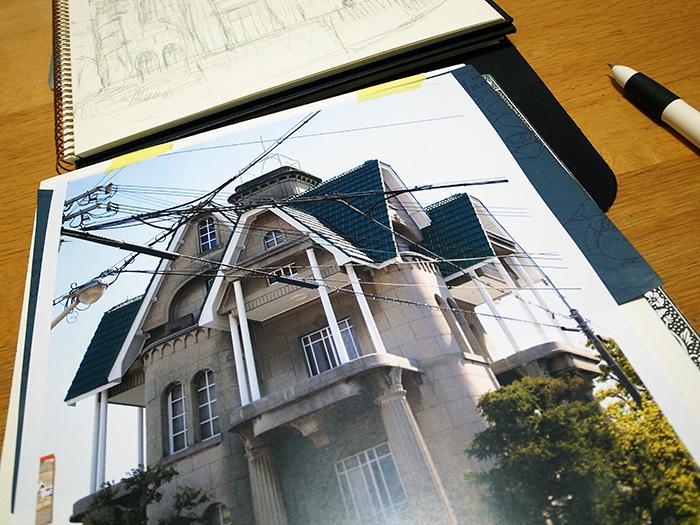 おうちで描こうよ② 一般クラス「春の洋館を描く」_b0212226_18110565.jpg