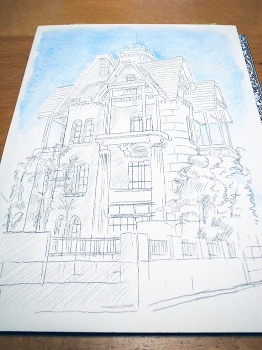 おうちで描こうよ② 一般クラス「春の洋館を描く」_b0212226_18235182.jpg