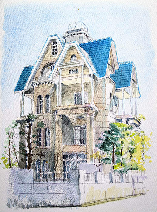 おうちで描こうよ② 一般クラス「春の洋館を描く」_b0212226_20473912.jpg