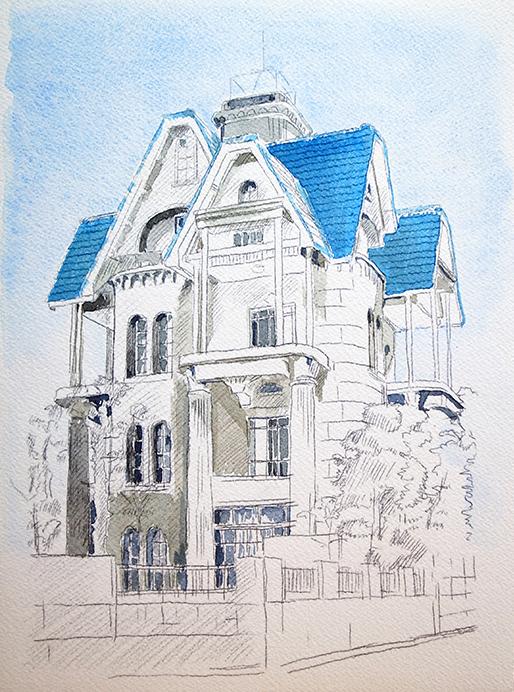 おうちで描こうよ② 一般クラス「春の洋館を描く」_b0212226_21273701.jpg