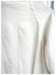 総手縫い、フルハンドで仕立てたフランネルリネンのローブコート_d0221430_18242419.jpg