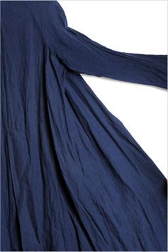 総手縫い、フルハンドで仕立てたフランネルリネンのローブコート_d0221430_18312289.jpg