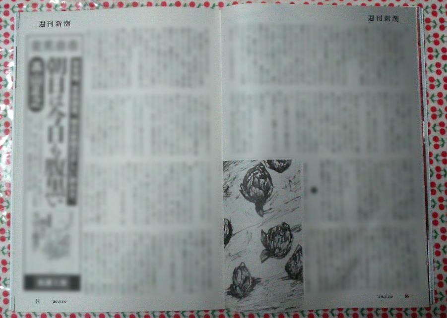 週刊新潮「雷神」挿絵 第11回〜17回_b0136144_10515025.jpg