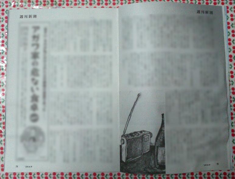 週刊新潮「雷神」挿絵 第11回〜17回_b0136144_10525885.jpg