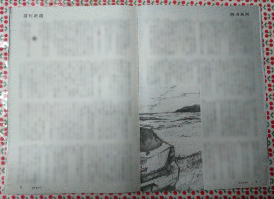 週刊新潮「雷神」挿絵 第11回〜17回_b0136144_10540174.jpg