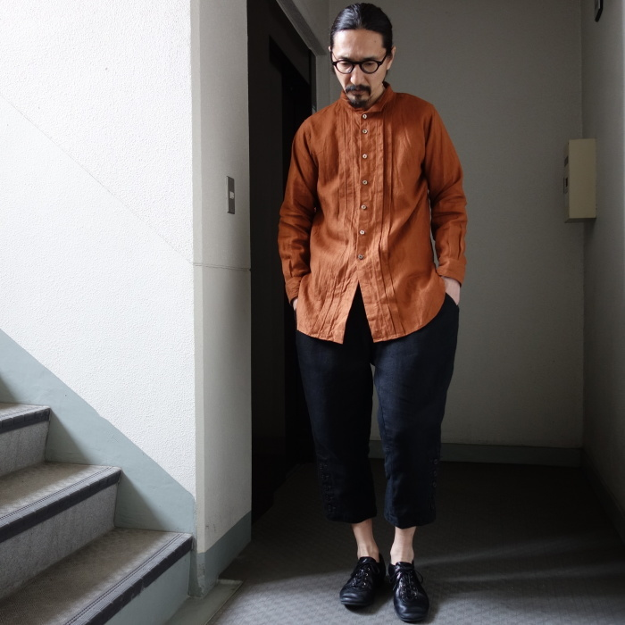 7月の製作 / french victorians heavylinen shirt / 別注品_e0130546_18193954.jpg