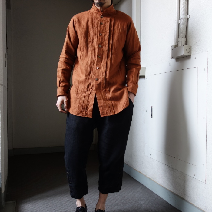 7月の製作 / french victorians heavylinen shirt / 別注品_e0130546_18195311.jpg