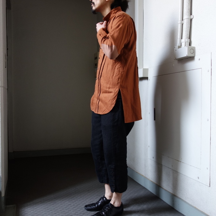 7月の製作 / french victorians heavylinen shirt / 別注品_e0130546_18201525.jpg