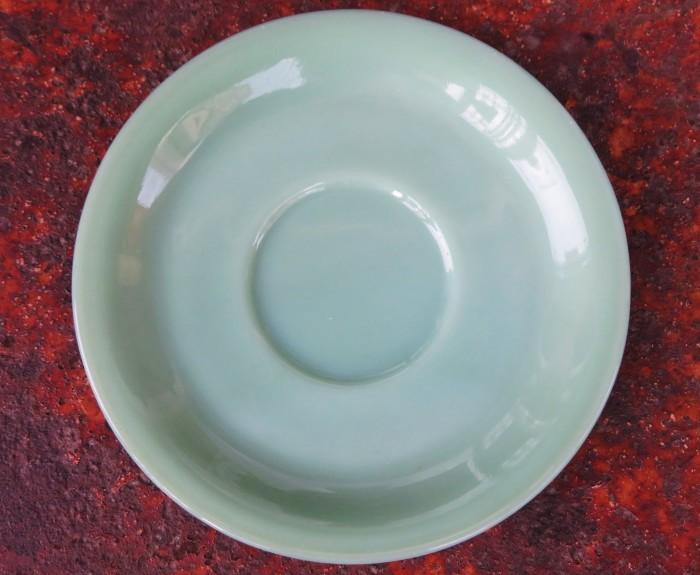 40\'s~ Fire King Jade-ite Extra Heavy Cup&Saucer + 感謝_e0187362_17283824.jpg