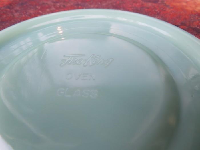 40\'s~ Fire King Jade-ite Extra Heavy Cup&Saucer + 感謝_e0187362_17290527.jpg