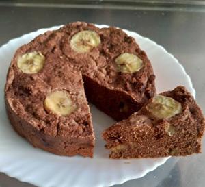 私はこれで痩せました「おからのチョコバナナ蒸しケーキ」(笑)_c0036138_15282418.jpg