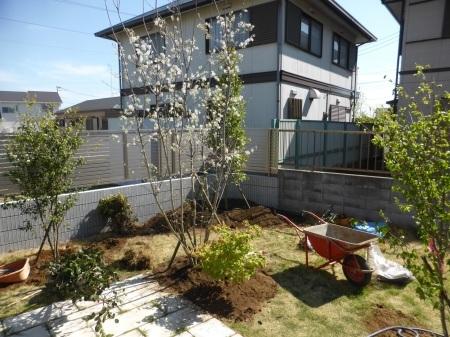 1年前のお庭。2019年の施工例から_e0356655_17244131.jpg
