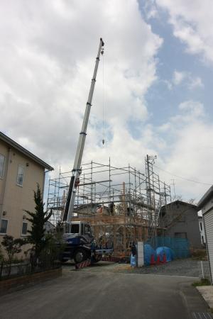 堂西建売住宅 建て方開始!!_e0150787_14345545.jpg