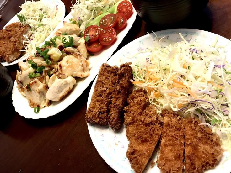 鶏むね肉のネギ塩焼きとアゲモノ♪☆祝日のランチ_c0212604_12351897.jpg