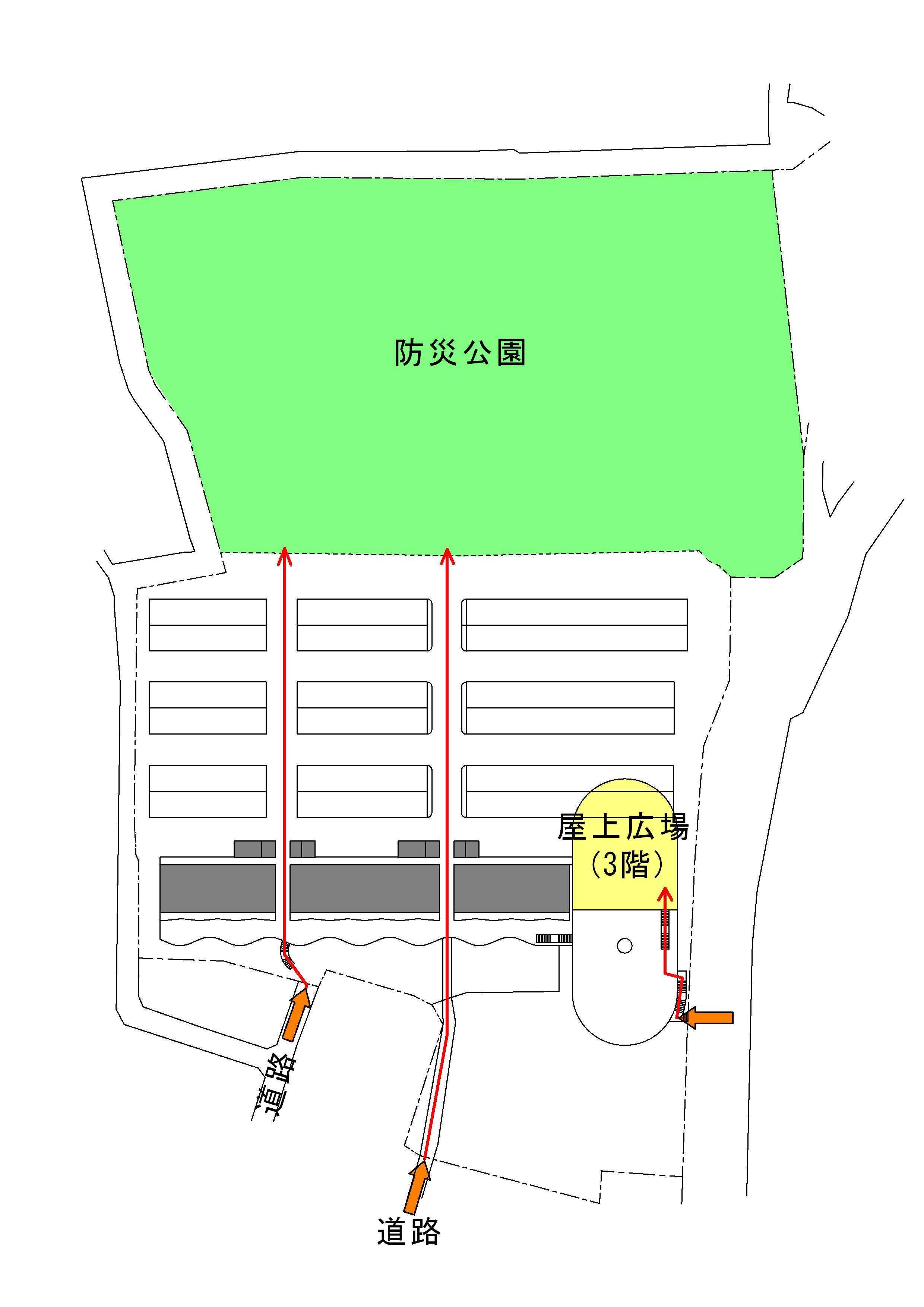 アンビルドシリーズ14 避難経路を軸線に_d0057215_15031125.jpg
