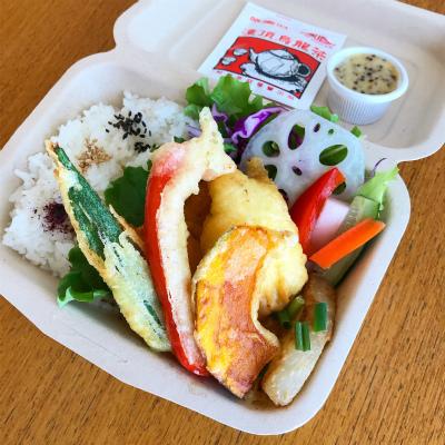 チキンと彩り野菜のフリッター(ハニーマスタードソース)_b0102217_13551144.jpg