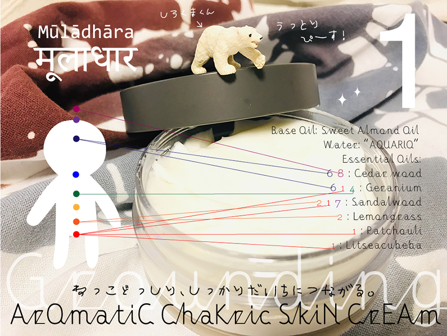 アロマティック美人術:第1チャクラのための「チャクリック・スキンケアクリーム」Grounding: グラウンディング!Ver.2_d0018646_18133617.jpg