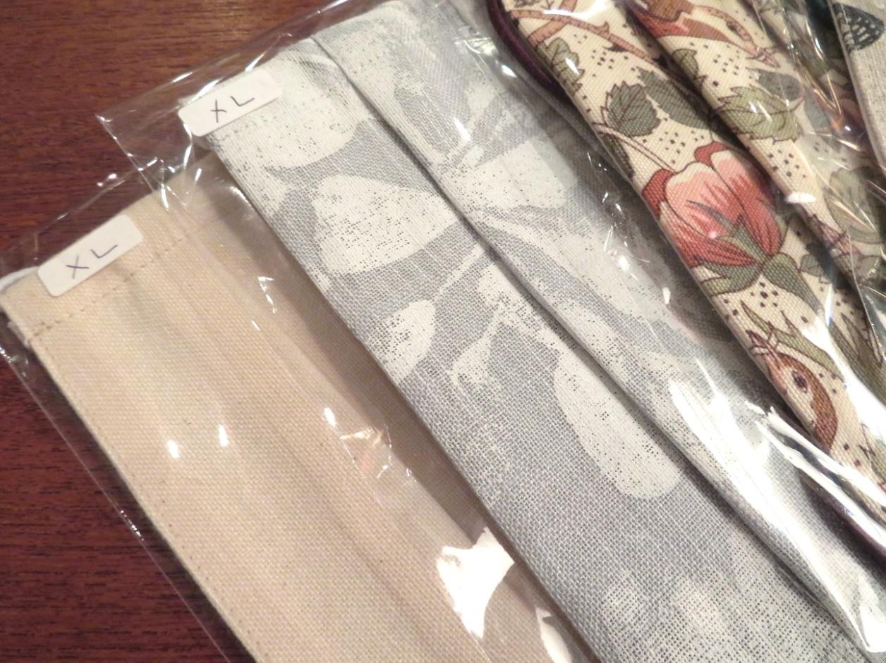 天然素材のカーテン生地で作る『布マスク』 モリス正規販売店のブライト_c0157866_19295173.jpg