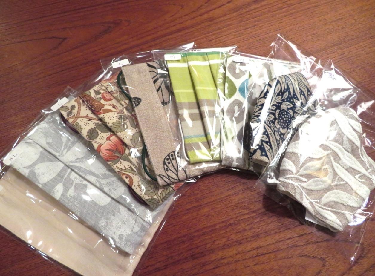 天然素材のカーテン生地で作る『布マスク』 モリス正規販売店のブライト_c0157866_19304518.jpg