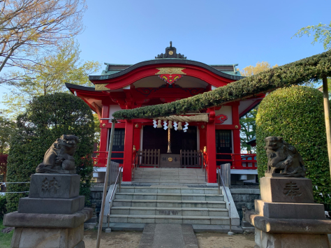 自宅から近くの、森浅間神社。_a0112393_12534225.jpg