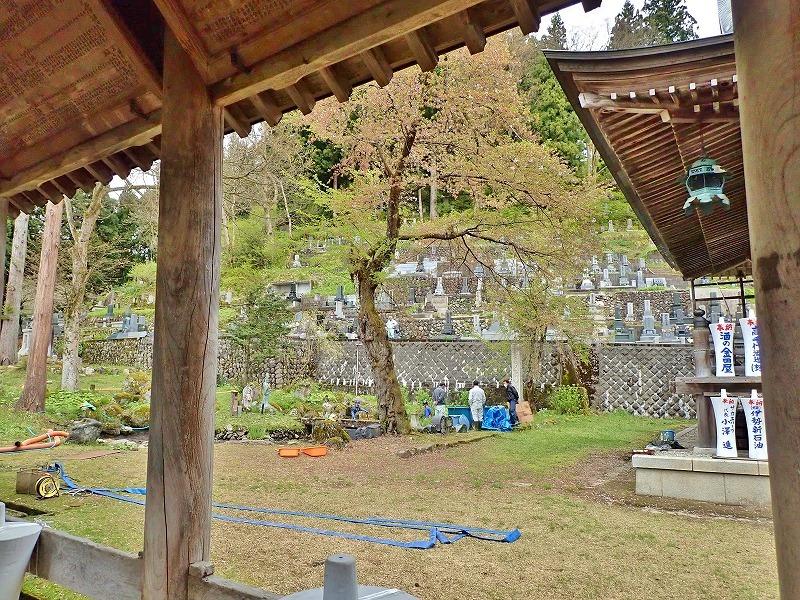 29日には毘沙門堂の「琵琶湖池」で泥上げ作業がありました_c0336902_21402982.jpg