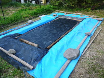 米作りの挑戦(2020年) 昨年より1週間早く苗床を作りました!(前編:温湯消毒から苗床完成まで)_a0254656_17390476.jpg