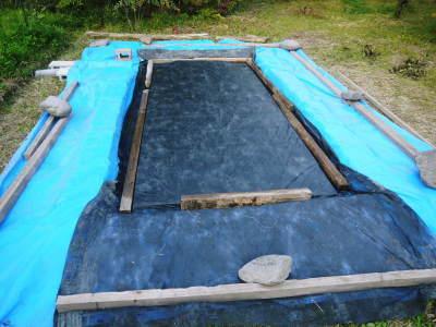 米作りの挑戦(2020年) 昨年より1週間早く苗床を作りました!(前編:温湯消毒から苗床完成まで)_a0254656_18431674.jpg