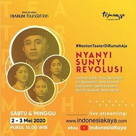 インドネシアの演劇:Nyanyi Sunyi Revolusi (2019) 詩人・Amir Hamzah_a0054926_20034920.jpg