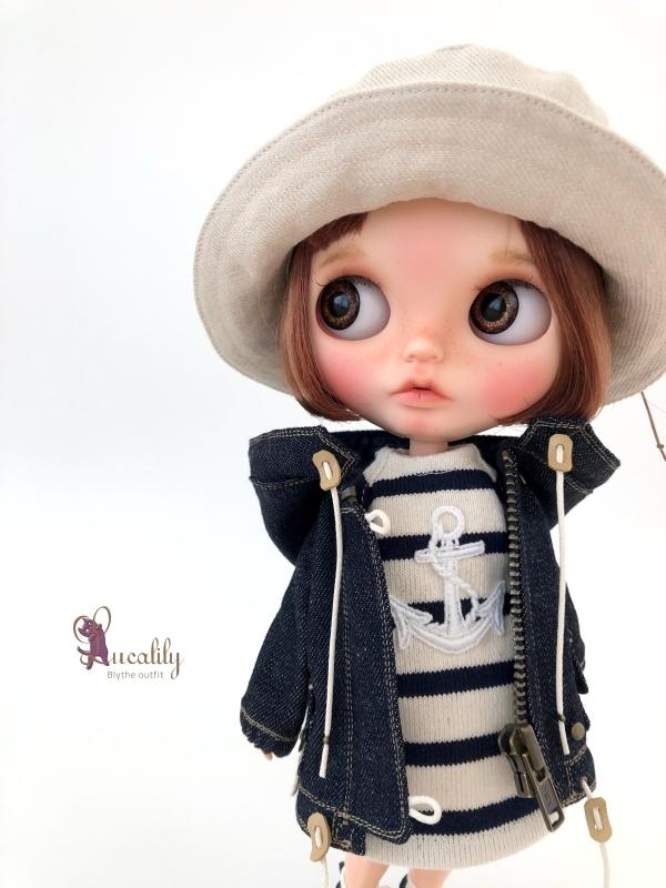 *lucalily * dolls clothes * Denim blouson set *_d0217189_14115639.jpg
