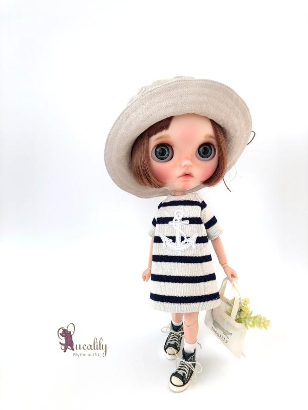 *lucalily * dolls clothes * Denim blouson set *_d0217189_14120291.jpg