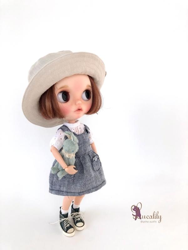 *lucalily * dolls clothes * Denim blouson set *_d0217189_14122578.jpg