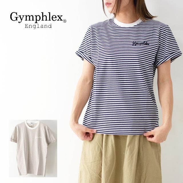 Gymphlex [ジムフレックス] W COMBED COTTON JERSEY TEE BORDER [J-1155CH] クルーネック  Tシャツ・ボーダー・ LADY\'S_f0051306_17311000.jpg