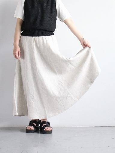 Worker's Nobility Circle skirt / Rustic 100% linen_b0139281_12102664.jpg