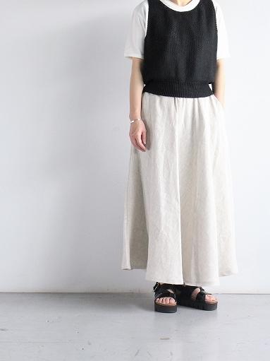 Worker's Nobility Circle skirt / Rustic 100% linen_b0139281_12103379.jpg