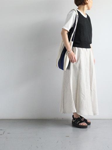Worker's Nobility Circle skirt / Rustic 100% linen_b0139281_12104555.jpg