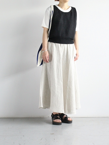 Worker's Nobility Circle skirt / Rustic 100% linen_b0139281_1211476.jpg