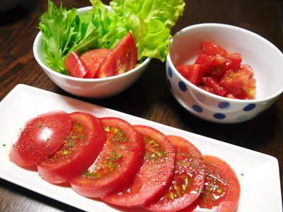 樹上完熟の朝採りトマト 元気に育成長中!そして、新品種のトマトを定植したとのこと!さっそく現地取材! _a0254656_18184382.jpg
