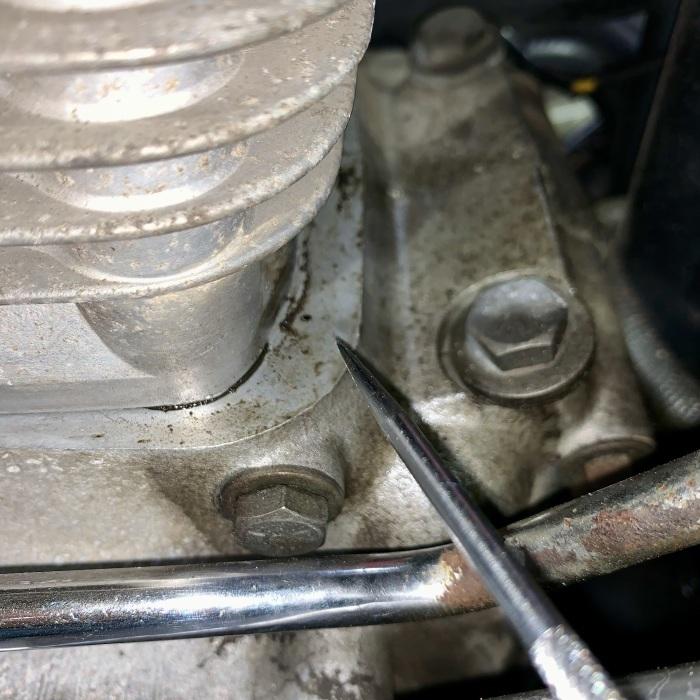 昭和63年製 ヘリテイジソフテイル エンジンオイル漏れ_c0226202_20545696.jpeg