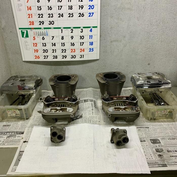 昭和63年製 ヘリテイジソフテイル エンジンオイル漏れ_c0226202_20553875.jpeg