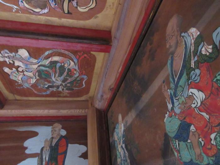 山門2階「天井画・壁画」修復前写真撮影_b0092684_11350666.jpg