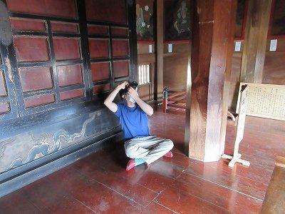 山門2階「天井画・壁画」修復前写真撮影_b0092684_11372428.jpg