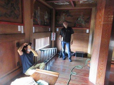 山門2階「天井画・壁画」修復前写真撮影_b0092684_11373365.jpg