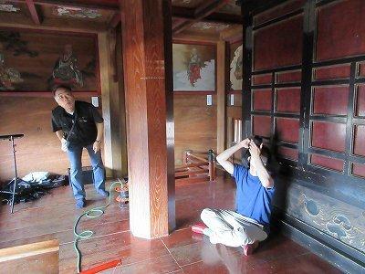 山門2階「天井画・壁画」修復前写真撮影_b0092684_11374734.jpg