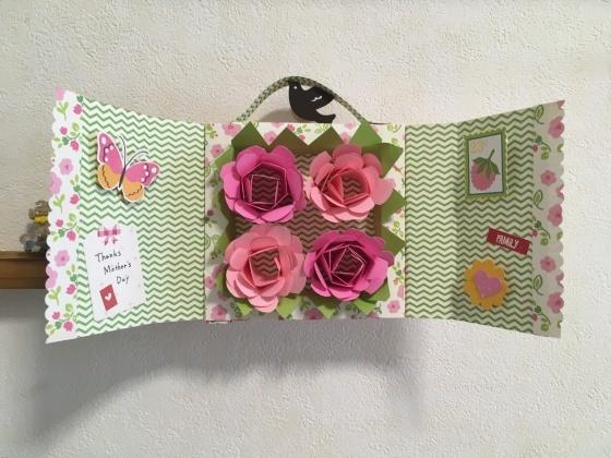 母の日に贈りたい 可愛い紙で作るペーパーフラワー壁掛け_c0231894_15535331.jpg