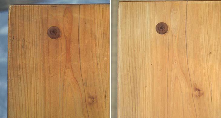 檜のテーブルをメンテナンス!_b0186205_16103009.jpg