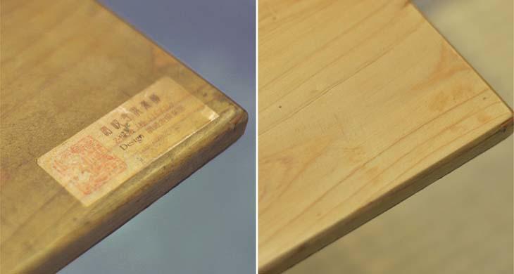 檜のテーブルをメンテナンス!_b0186205_16275457.jpg