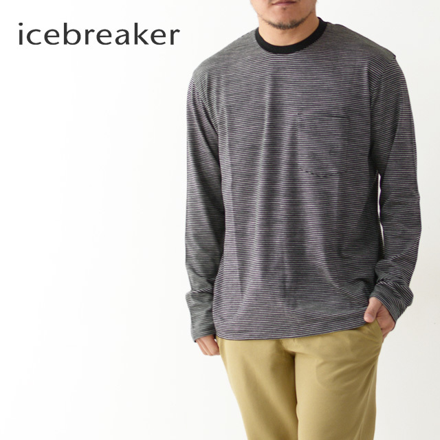 ICE BREAKER [アイスブレーカー] LUXE LITE LS POCKET CREWE STRIPE [IT11874] ・長袖・クルーネックMEN\'S_f0051306_17342209.jpg